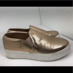 Steve Madden gracy rose gold slip on shoes 7
